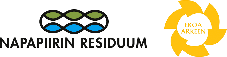 Napapiirin residuum ja ekoa arkeen logot