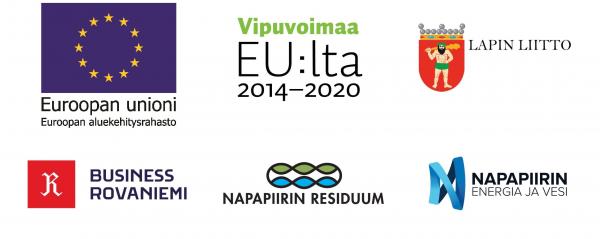 Hankkeen osallistujien ja rahoittajien logot.